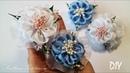 Резинки для волос с нежными цветами из цельной ленты Канзаши Svetlana Zolotareva