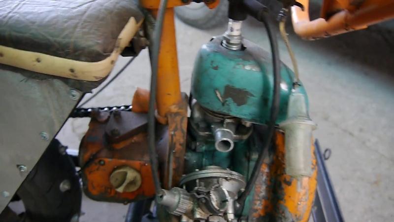 доработка санок с двигателем от бензопилы Дружба, часть 3