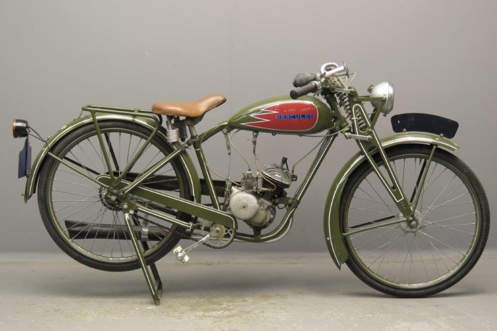 Старинный мопед Hercules MF100 1938
