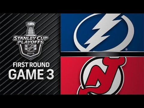NHL 18 PS4. 2018 STANLEY CUP PLAYOFFS FIRST ROUND GAME 3 EAST: LIGHTNING VS DEVILS. 04.16.2018. (NBCSN) !