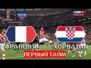 Франция Хорватия 2 1 Финал Обзор первого тайма ЧМ по футболу 2018