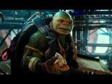 Микеланджело роняет кусок пиццы Черепашки ниндзя 2 (2016) Full HD 1080p