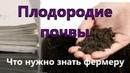 Плодородие почвы Что нужно знать фермеру Часть 1