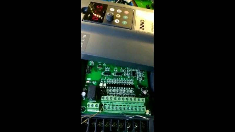 Ремонт преобразователя частоты INNOVERT H3400A03D7K видео отчет