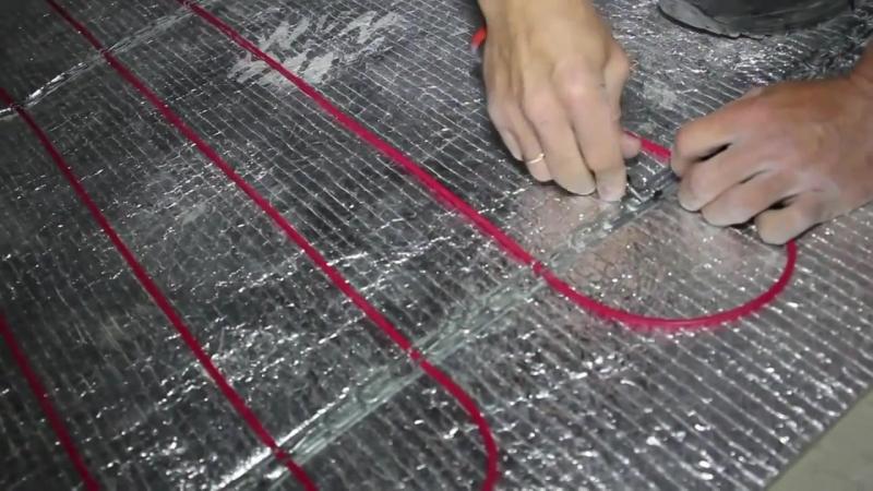 Энергоэффективные Строительные Материалы ELECTROLUX Монтаж тёплого пола нагревательный кабель