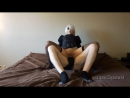 Asian cosplay 2B nier automata and gets a facial, a cumshot, and creampied