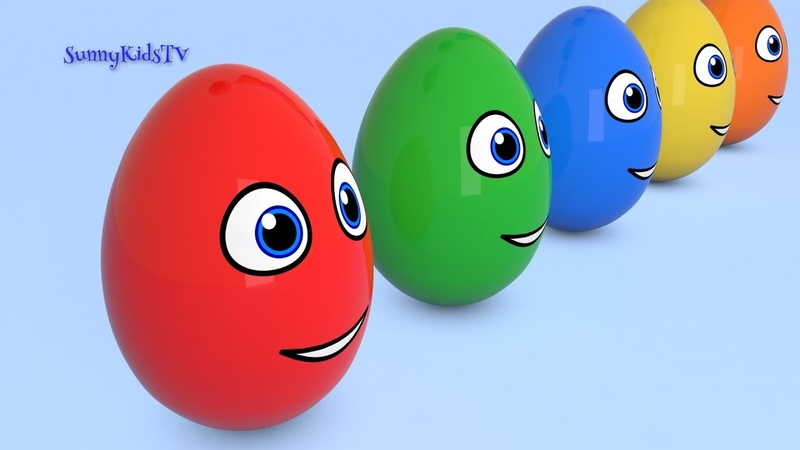 Learn colors with Surprise Eggs Compilation 3D Cartoons for kids