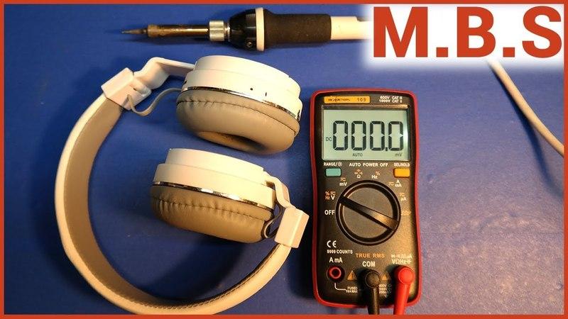 Bluetooth наушники SH12 ремонт. Микросхема Li-Ion LTC4054