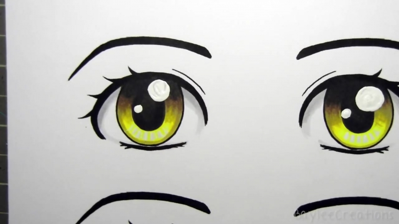 Рисуем глаза маркерами (манга)