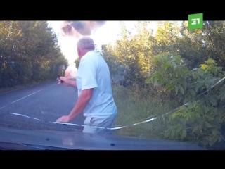 В Черниговской области в горящей Девятке взорвался газовый баллон.