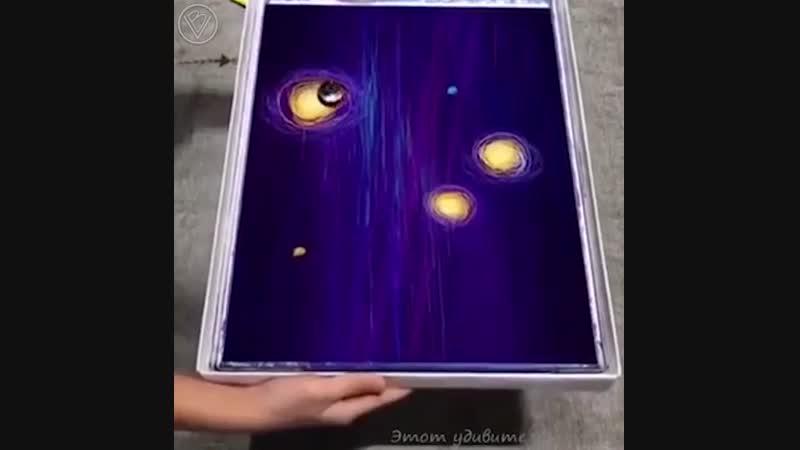 Рисунок с помощью волчка