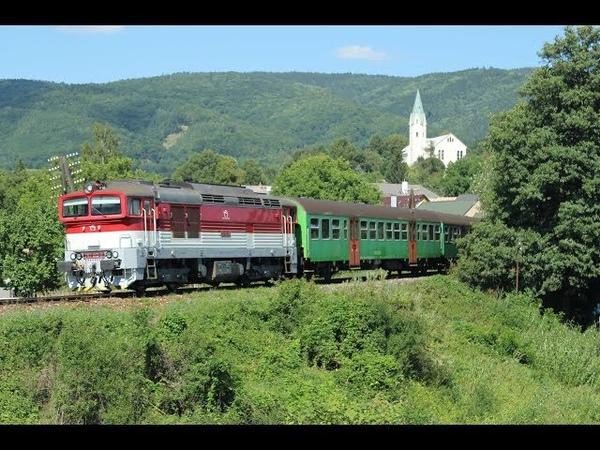 ESK086142 Passenger trains Slovakia diesel locomotive ZSSK 757 Chrenovec osobne vlak dieselový rušeň