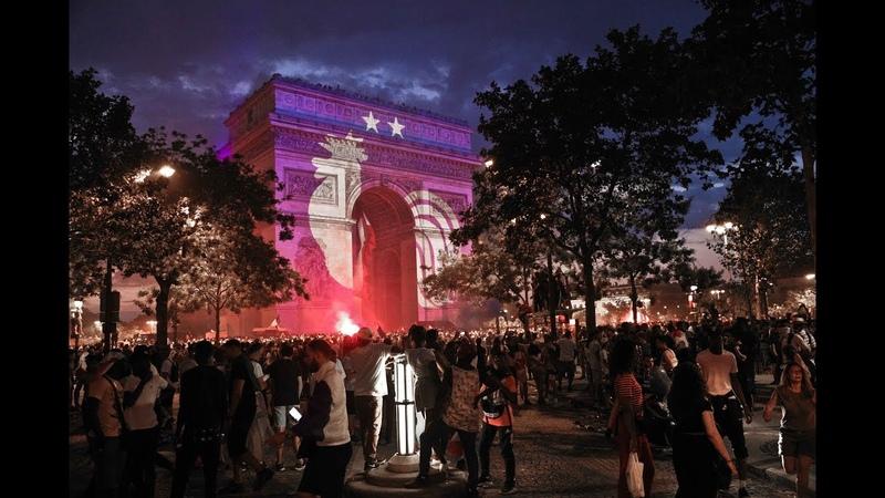 La France championne du monde joie et violences sur les Champs-Elysées