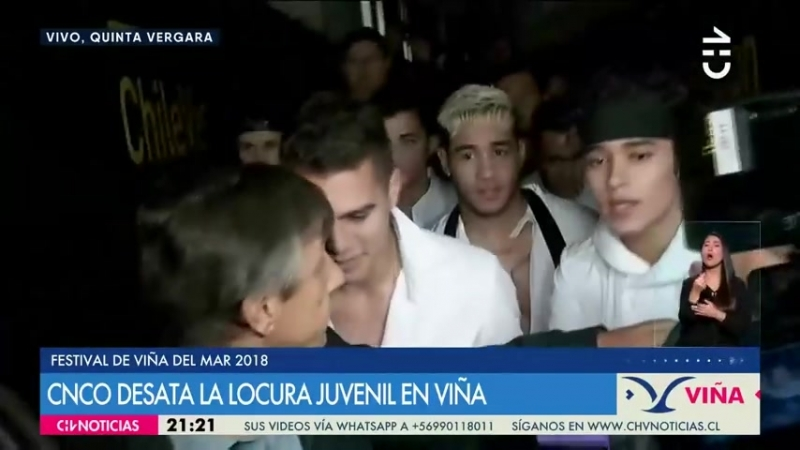 CNCO en entrevista exclusiva No esperábamos ese apoyo tan increíble - CHV NOTICIAS