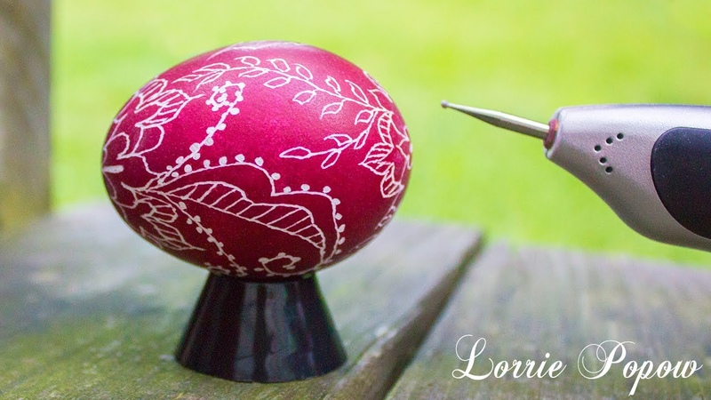 Learn How to do Egg Art Beginner Scratch Easter Egg Technique with Etching Tool