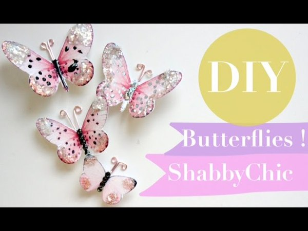 How to make Butterflies ShabbyChic | DIY Paper | Tutorial | Super Easy |