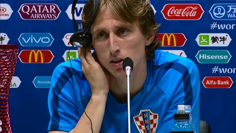 Luka Modric stolz im Interview nach Sieg Einzug ins WM Halbfinale I Russland 3 4 Kroatien n E