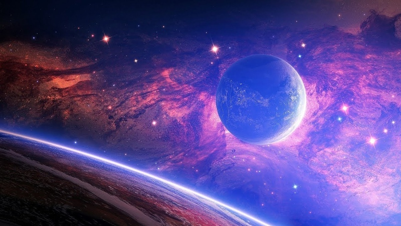 Ambient Music { Space Traveling }. Background for Sleep, Meditation, Study, Relaxation