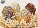 Пасхальные яйца, украшенные крупой