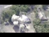 Беспилотник снял на видео взрывающуюся технику ВСУ под Горловкой