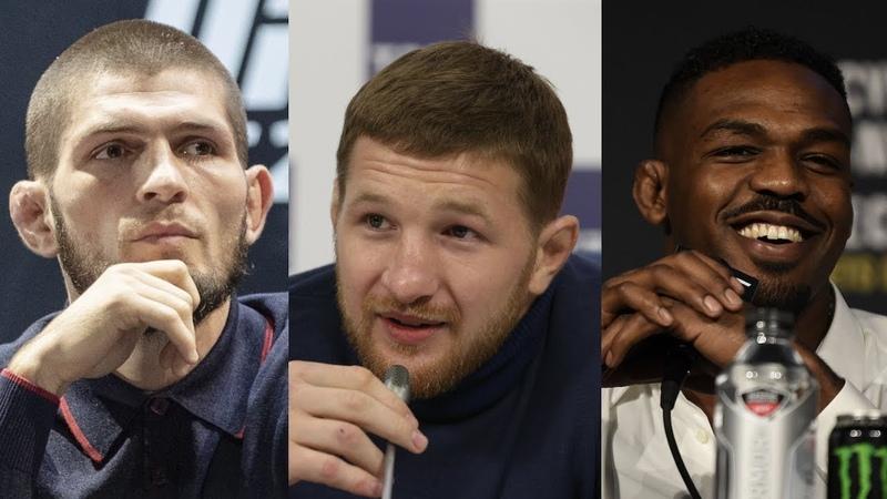 Хабиб о провале Джонсом допинг теста Минеев о бое с Штырковым Шлеменко и реванше с Исмаиловым