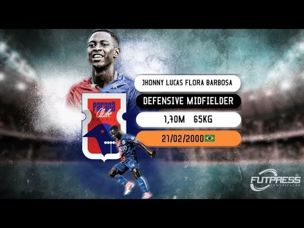 Jhonny Lucas Volante Defensive midfielder 2018