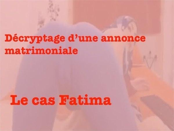 Décryptage d'une annonce matrimoniale - le cas Fatima, jeune femme de 37 ans