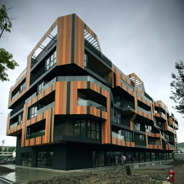 Фасады современных зданий