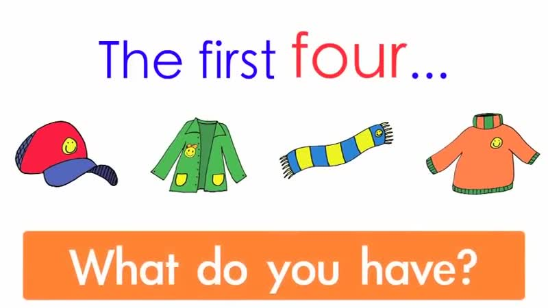 My Clothes With Sentences Part 2 - Clothing Song for Kids - Clothes Vocabulary