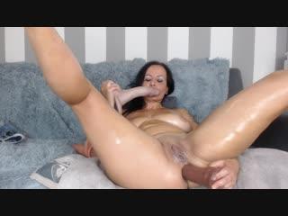 Hard anal masturbation with big dildos and squirting orgasms, solo masturbation anal porno