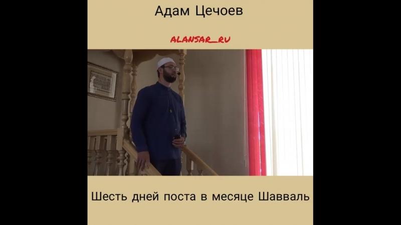 Адам Цечоев Шесть дней поста в месяце Шавваль