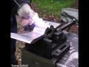 📹 Видео демонстрация делаем топор из рельса своими руками