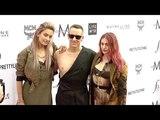 Jeremy Scott, Paris Jackson and Frances Bean Cobain at Daily Front Row Fashion Awards red carpet