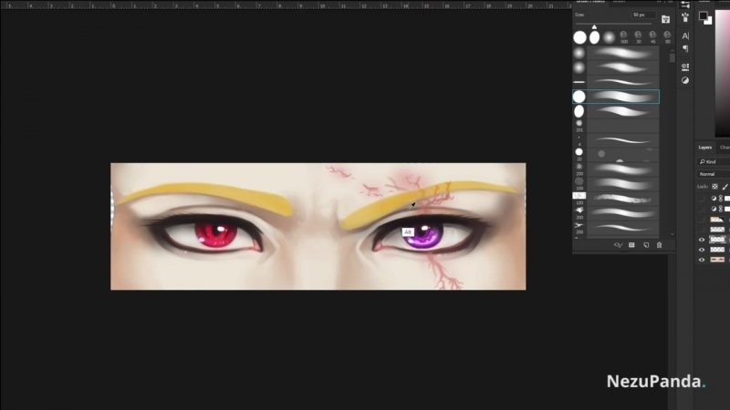 Drawing eyes, vampire batch
