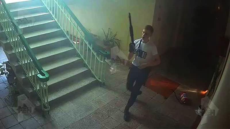 Россия 24 Керченский стрелок эксклюзивные кадры с камер видеонаблюдения 17 10 2017