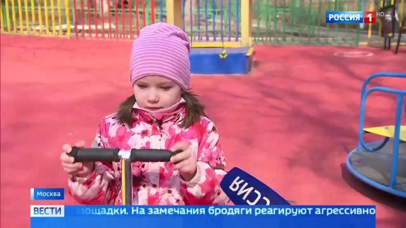Вести-Москва • Бездомные оккупировали столичные дворы и детские площадки