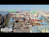 ЖК Ligovsky City от застройщика Glorax Development (аэросъемка: апрель 2018 г.)