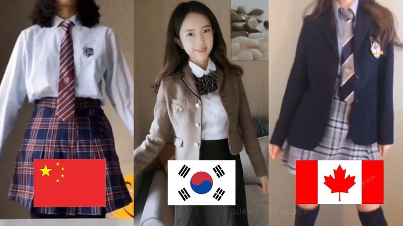 Trào Lưu Khoe Đồng Phục Học Sinh Trung Học Đại Học Tik Tok China School Uniform Challenge