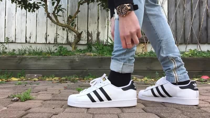 Adidas Superstar Orginals On-Feet w- Different Bottoms