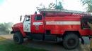 Пожар в п. Роза на ул. Димитрова.