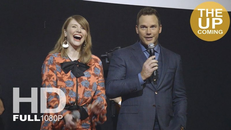 Jurassic World: Fallen Kingdom screen presentation with Chris Pratt, Bryce Dallas Howard at premiere