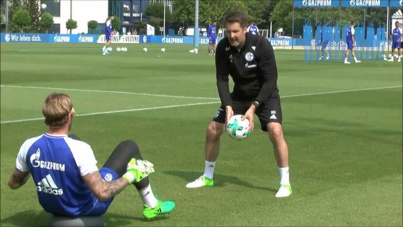 Entrenamiento porteros del FC Schalke 04 - Pretemporada 2017/18
