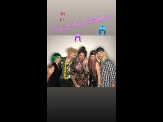 Дженсен, Дэннил и Женевьев на Дне рождения Билли Мерсера (из истории Дэннил на Инстаграме)
