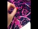 Сочный весенний платок 💜🤩размер 140*140 состав 100% шёлк