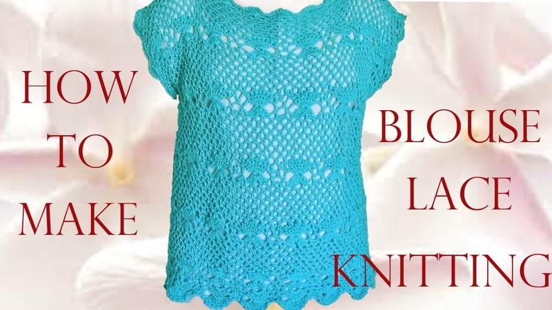 😍 Haz crea y diseña tu ropa blusa de encaje Make creates your clothes lace blouse Knitting
