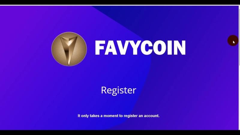 Favy Coin новое ICO 500 монет - без заданий , только регистрация