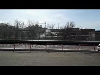 Дымит гараж в Красноярске