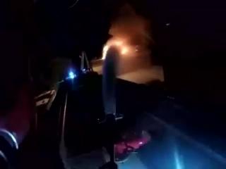 тушение пожара в Мозыре (камера GoPro)