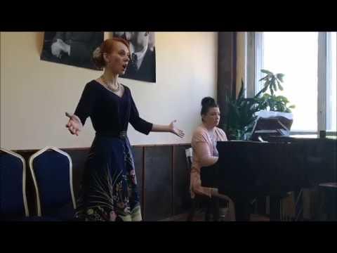 Мария Мутлова, песня Ольги Как у нас на улице из оперы Русалка