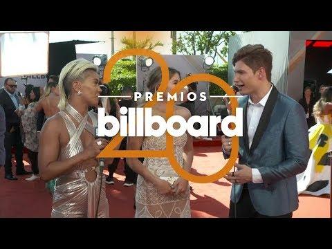 Sofía Reyes se divierte en la alfombra de los Billboard | Premios Billboards 2018 | Entretenimiento